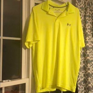 Lime green under Armour golf polo